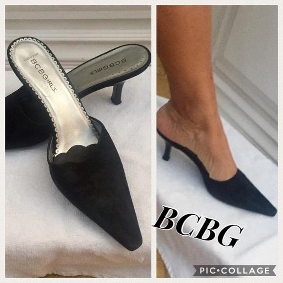 cdf480c9f26e BCBGirls Shoes - BCBG Black Suede Mule